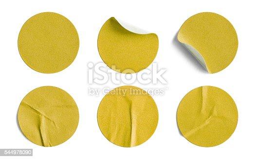 istock Yellow Round Stickers 544978090
