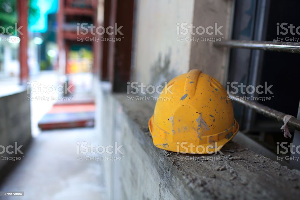 Gelbe Sicherheit harten Helm – Foto
