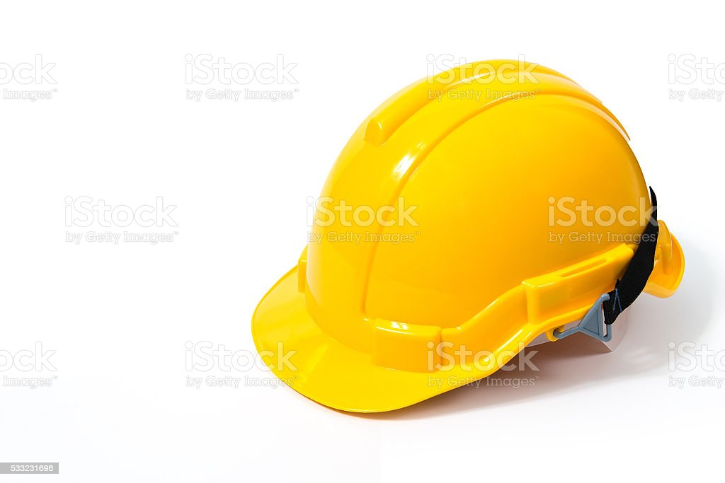 Yellow safety helmet stock photo