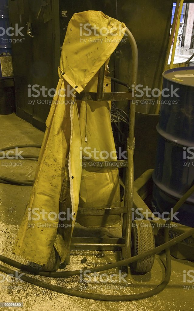 yellow safety jacket royalty-free stock photo