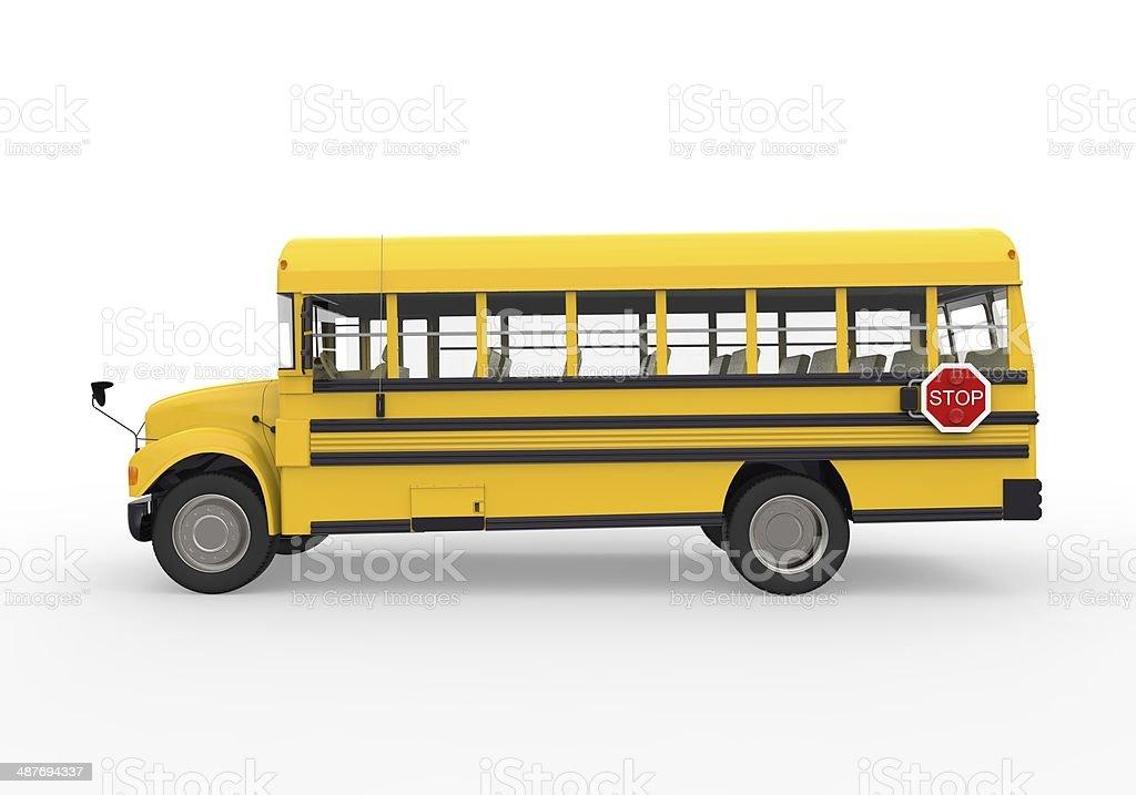 Yellow School Bus stock photo