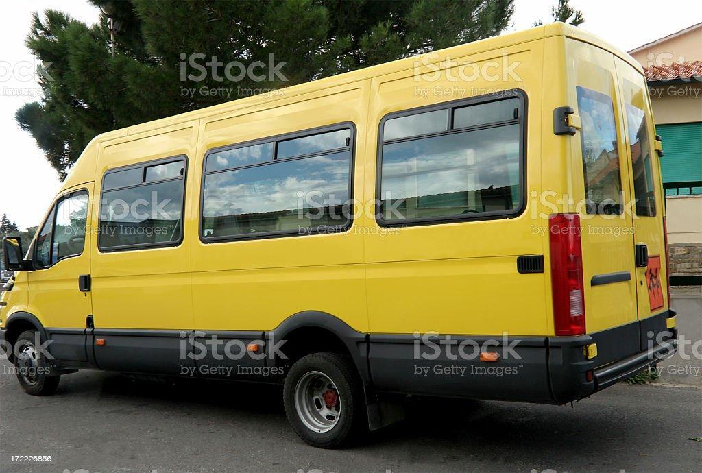 Scuola Bus.Scuolabus giallo - foto stock