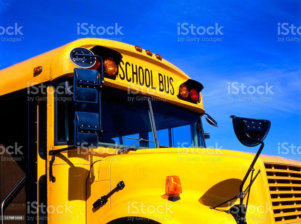Yellow schoolbus stock photo