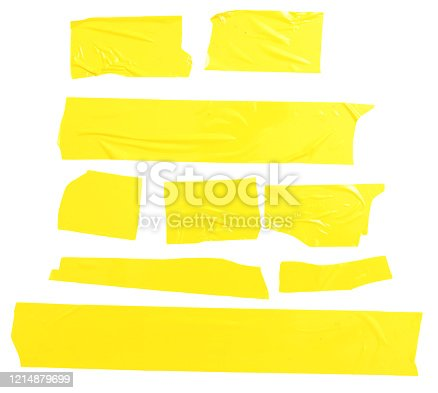 Yellow scotch isolated on white background