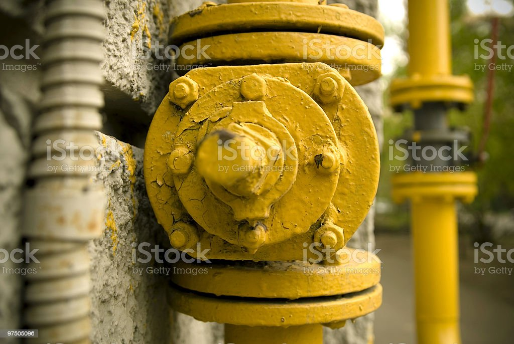 Yellow screws royalty-free stock photo