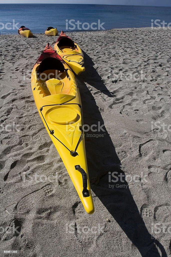 Yellow Sea Kayaks royalty-free stock photo