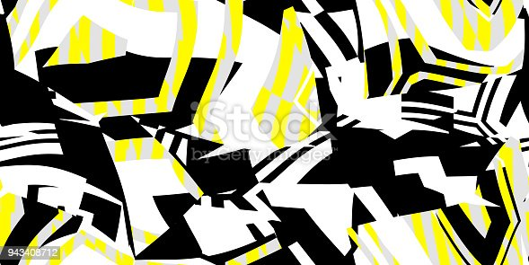 istock Yellow Seamless Prickly Scraps Background. Sharp Angular Shapes on Monochrome Texture. Prickly Contrast Ragged Flaps Backdrop. 943408712