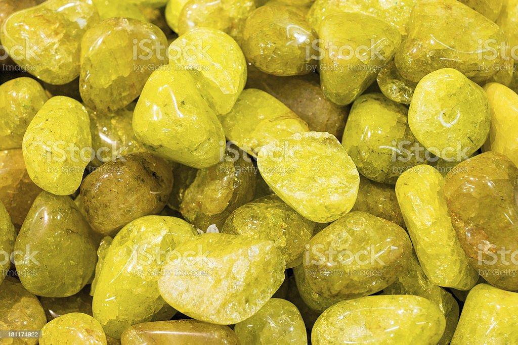 Yellow semiprecious stones royalty-free stock photo