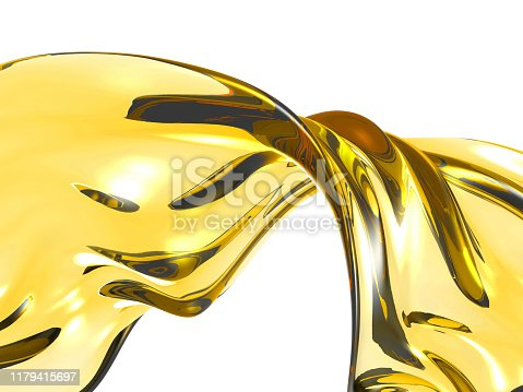 859844580 istock photo Yellow shiny transparent liquid splash 1179415697