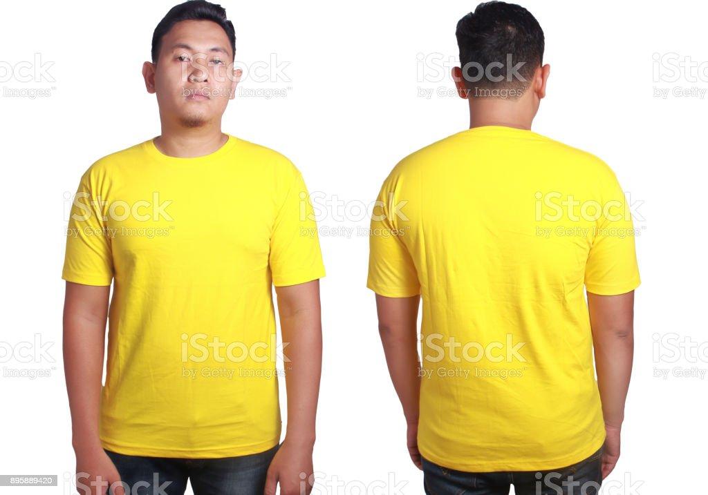 Plantilla De Camiseta Amarilla Maqueta - Fotografía de stock y más ...