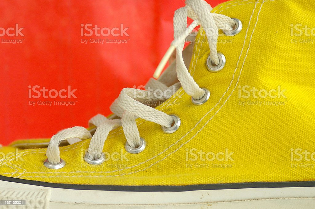 Yellow shoe stock photo
