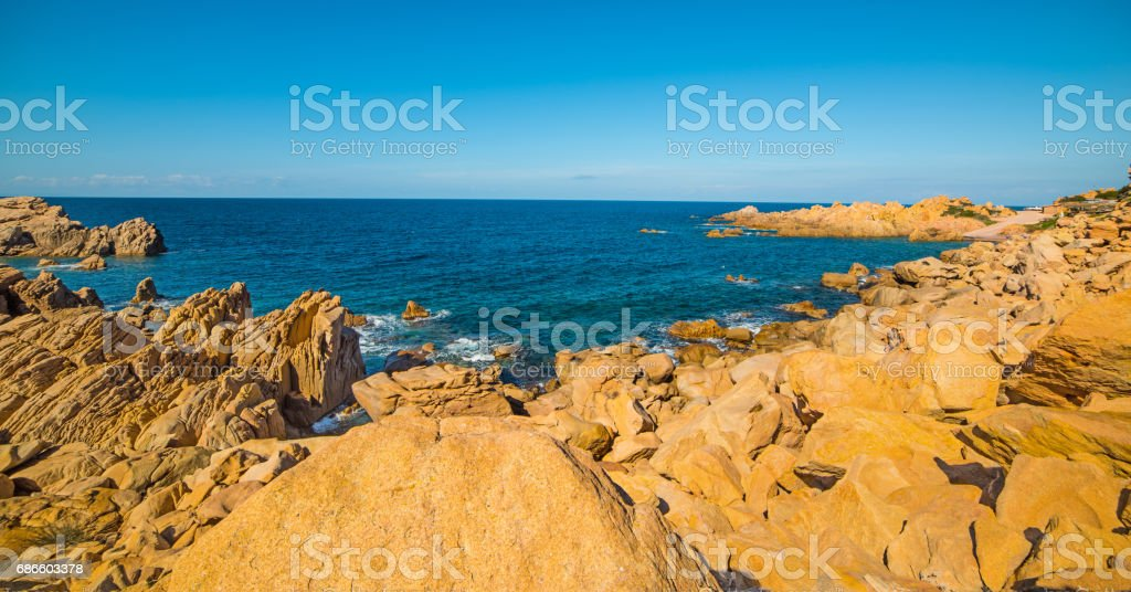 Yellow shore in Sardegna royalty-free stock photo