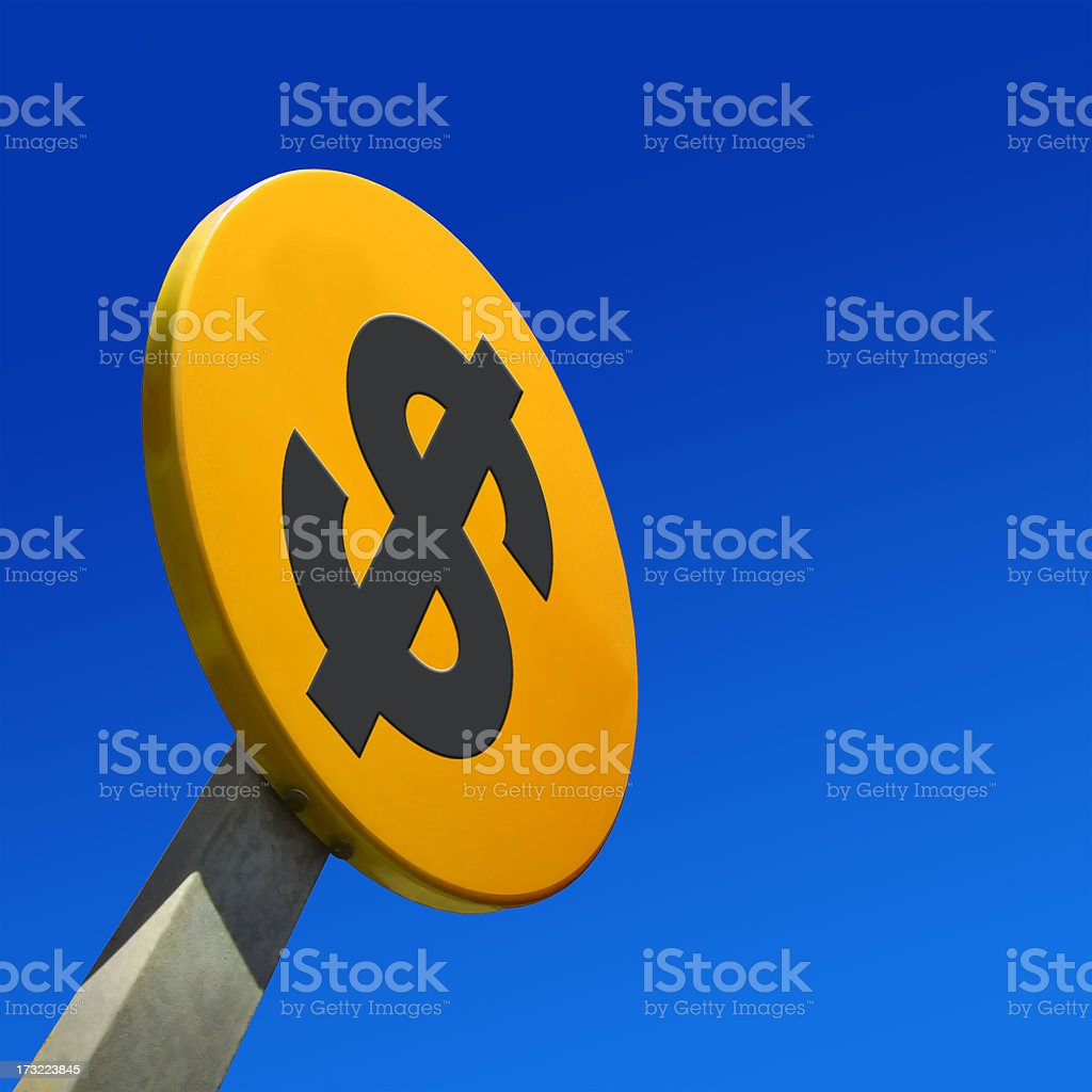 Yellow Sign Dollar royalty-free stock photo