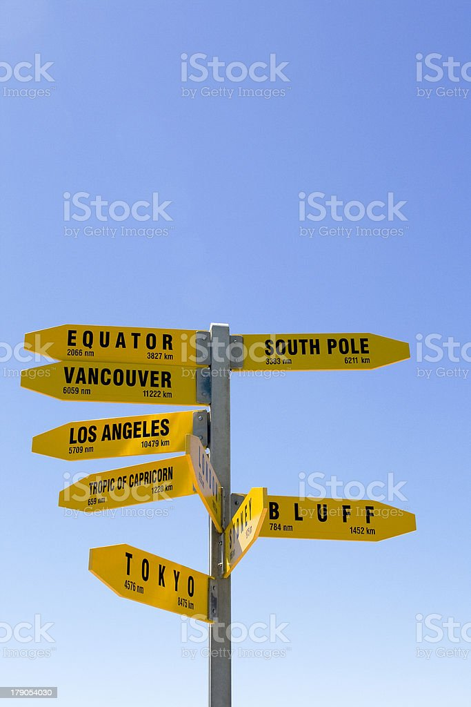Yellow signpost royalty-free stock photo