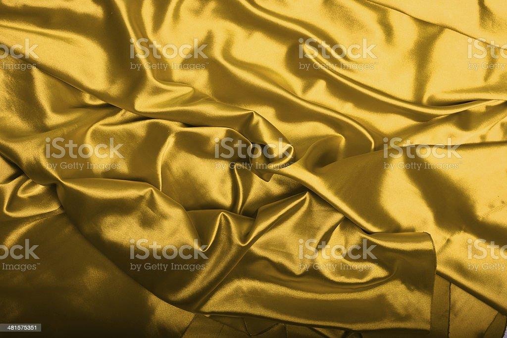 Yellow silk background texture royalty-free stock photo