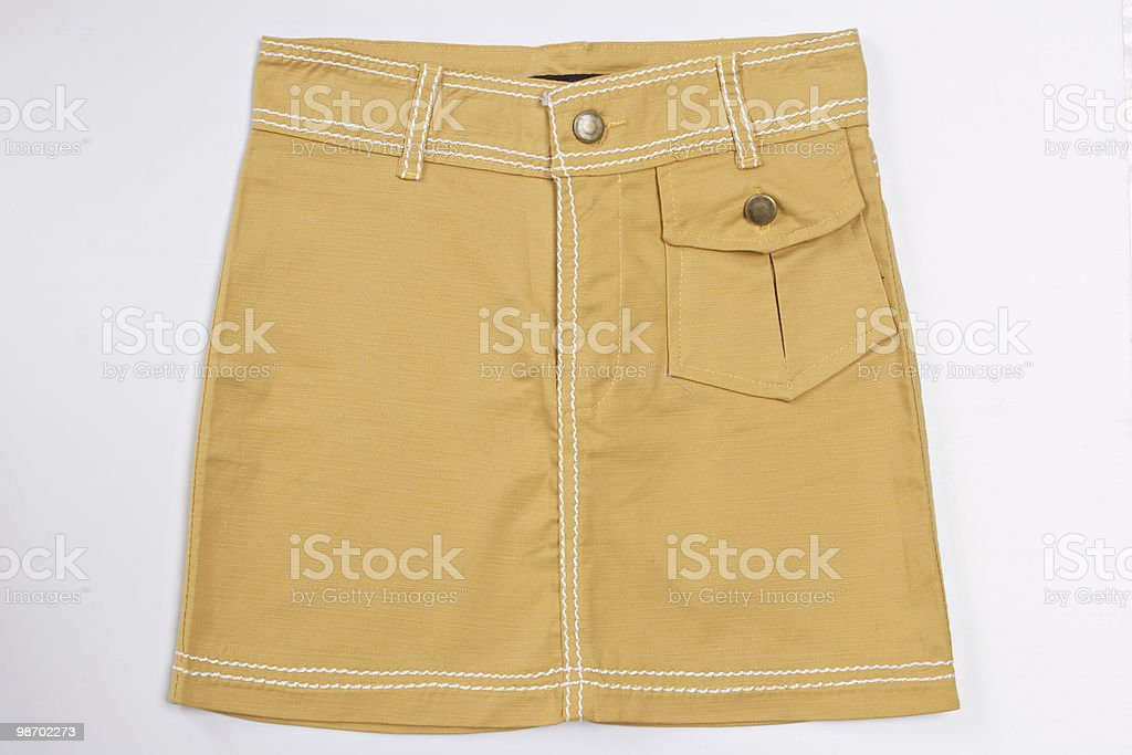 yellow skirt royalty-free stock photo