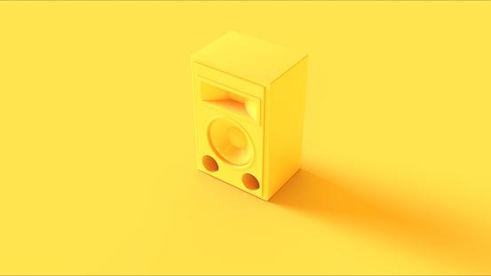 Yellow Speaker/ 3d illustration / 3d rendering