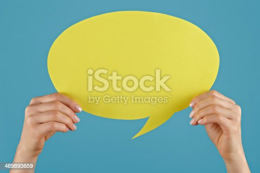 638013502istockphoto Yellow speech bubble. 469893659
