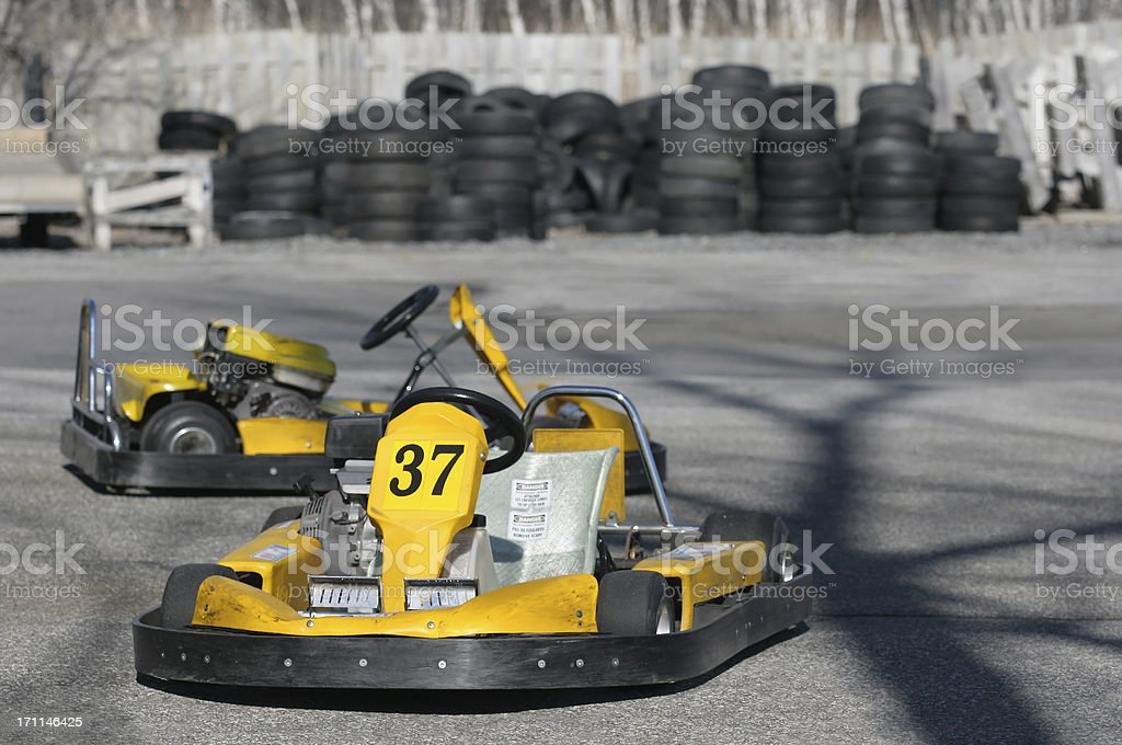 Yellow Speedsters royalty-free stock photo