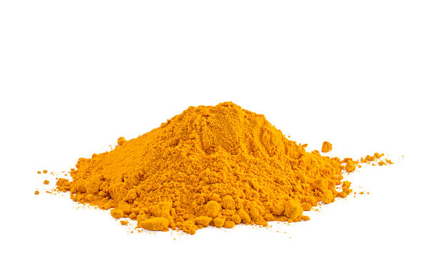 Yellow spice stock photo