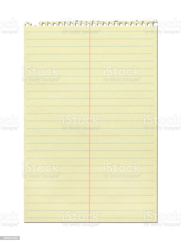 Yellow Spiral Notebook stock photo