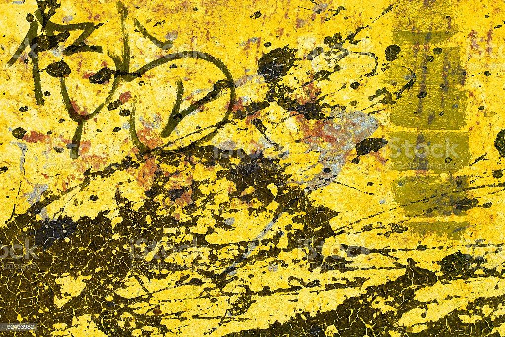 Yellow Splatter royalty-free stock photo