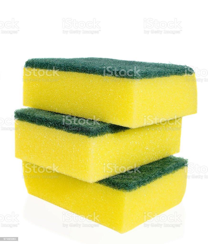 Yellow sponges royalty-free stock photo
