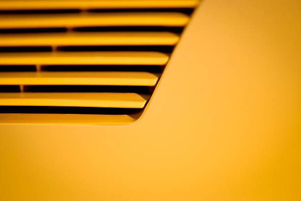 Yellow Sport Car Abstract Background stock photo