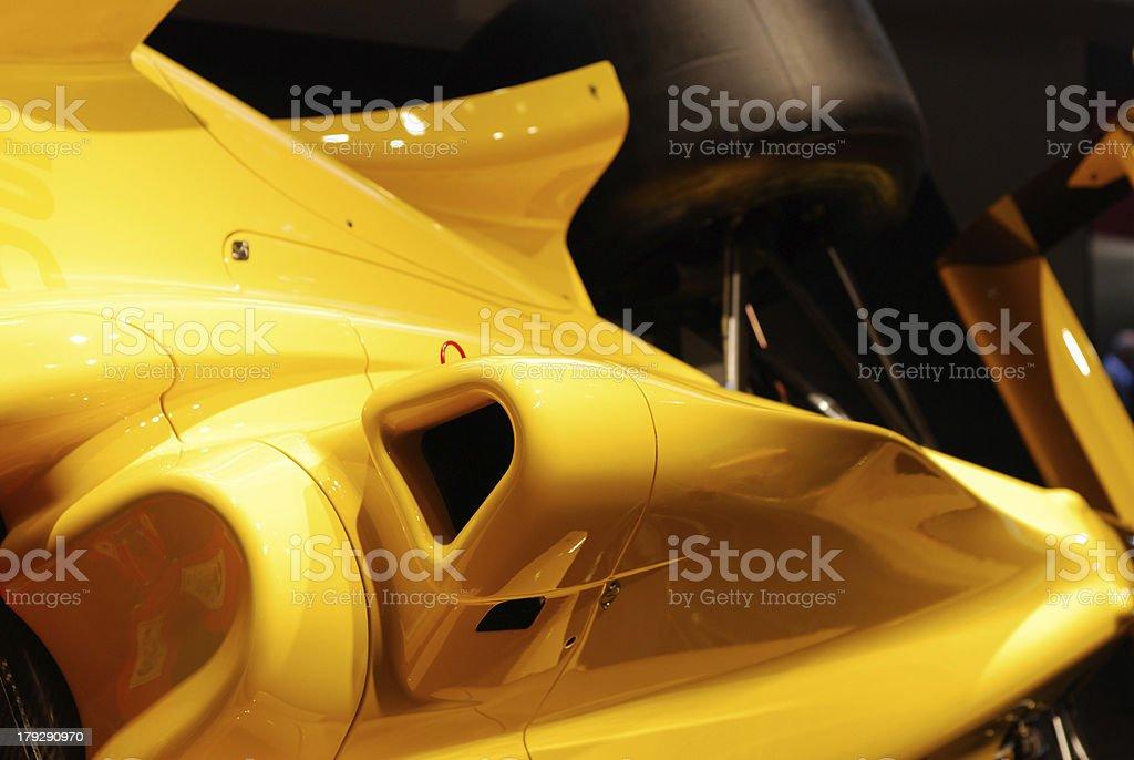 yellow sport speed car stock photo