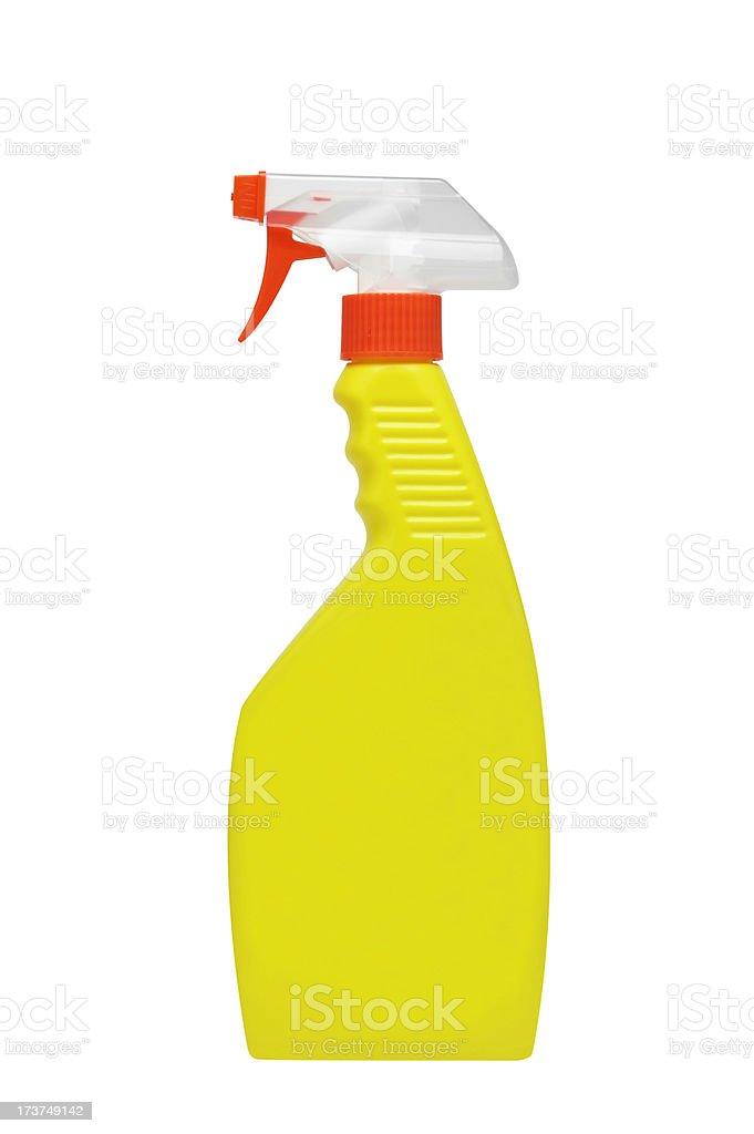 Yellow Spray Bottle stock photo