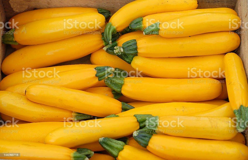 Yellow Squash at a Farmer's Market stock photo