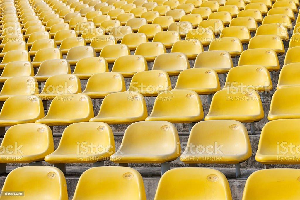 Yellow Stadium Seats (XXXL) royalty-free stock photo