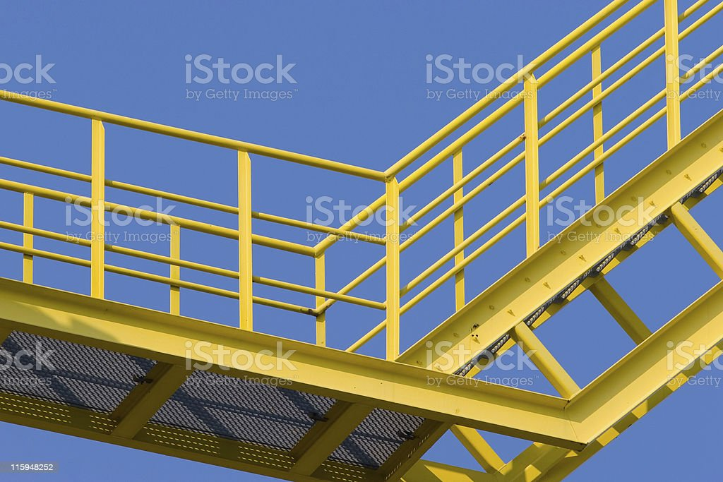 Yellow stairs royalty-free stock photo