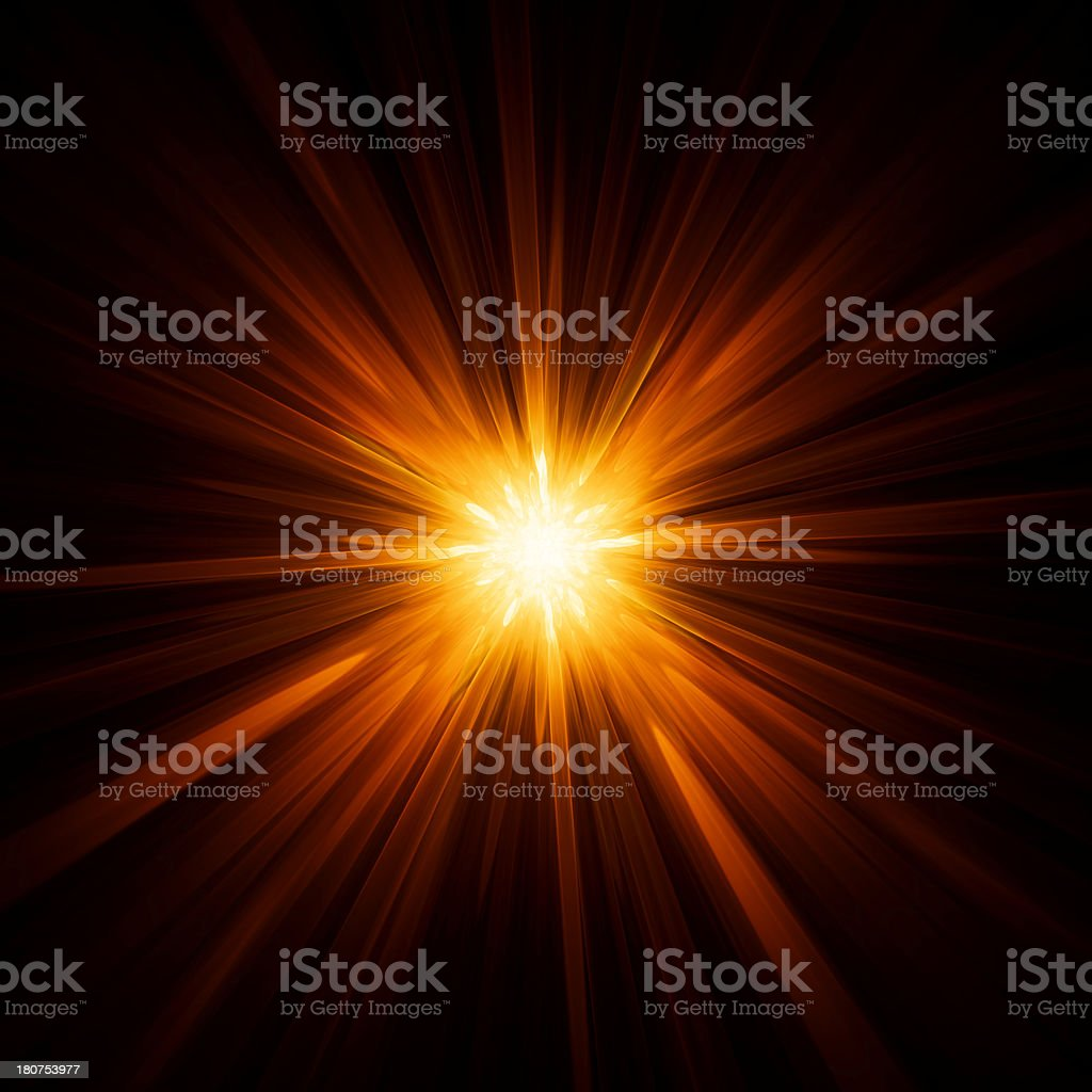 Yellow star background stock photo