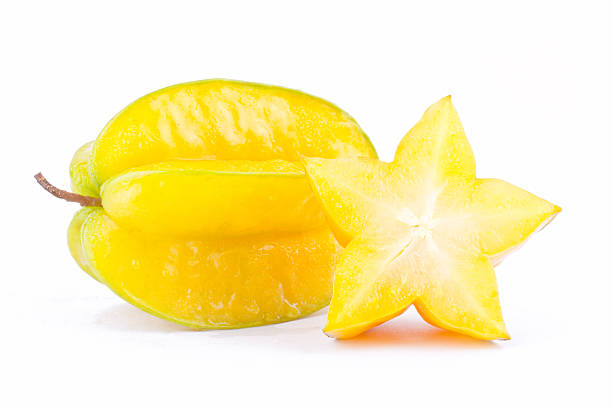 yellow star fruit carambola or star apple ( starfruit ) – Foto