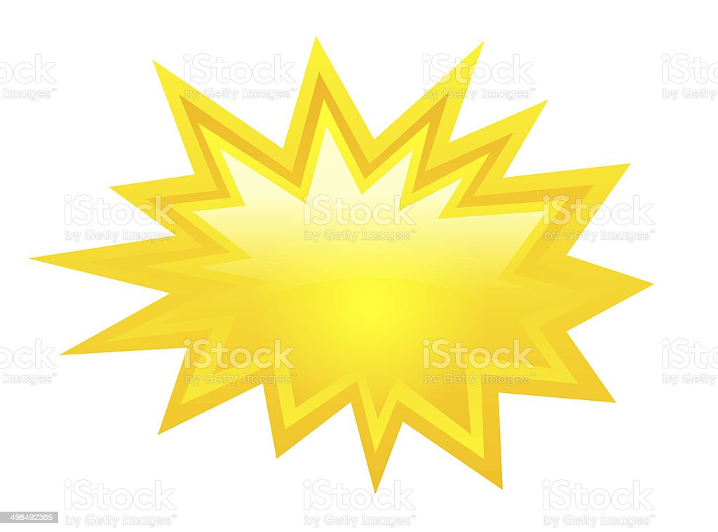 Yellow star stock photo