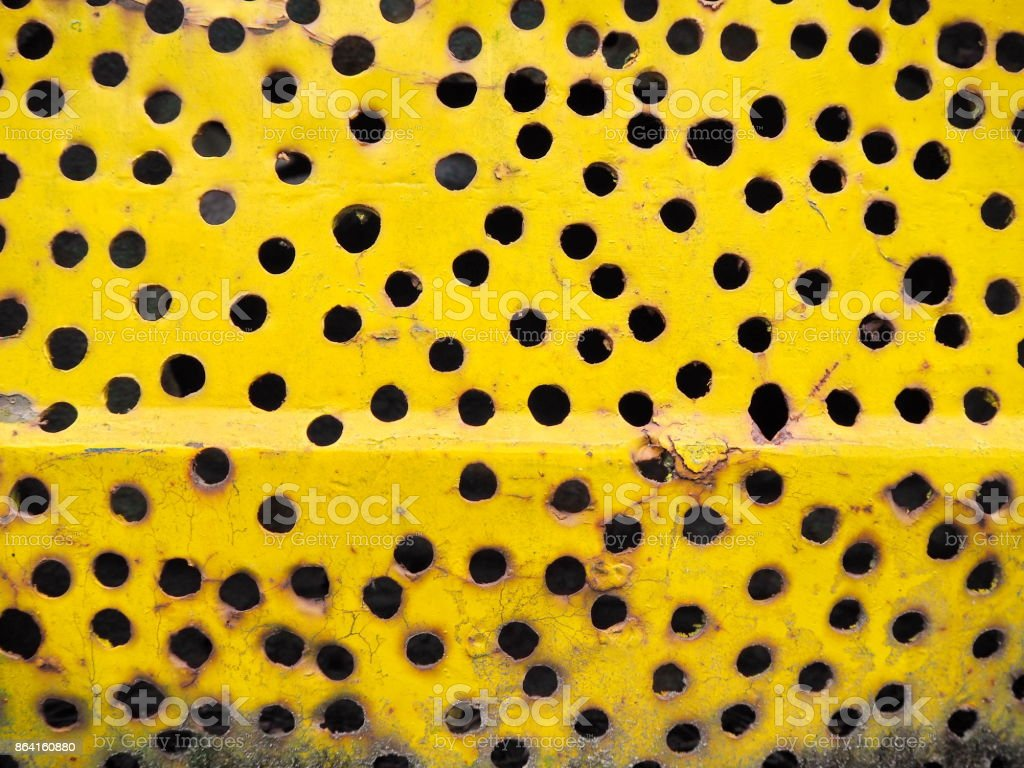 Yellow steel plate royalty-free stock photo