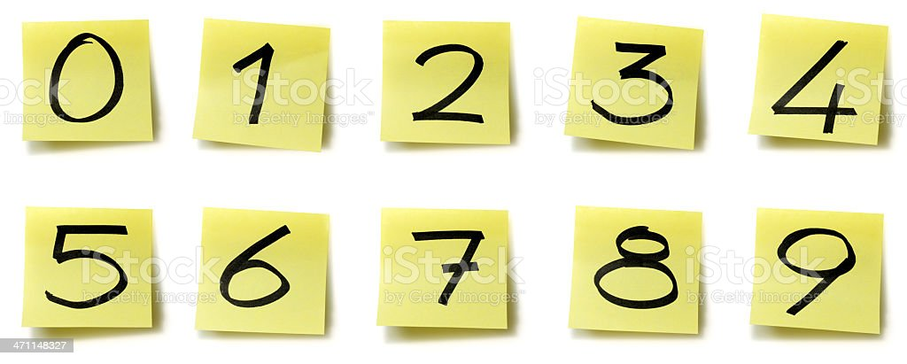 Yellow sticky alphabet royalty-free stock photo
