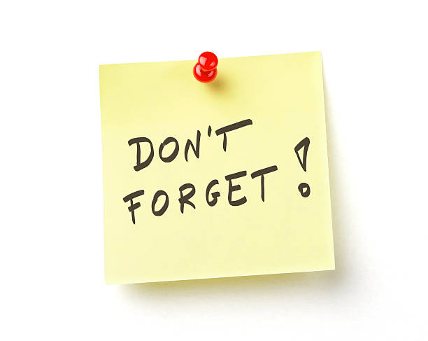 yellow sticky note - reminder stock photos and pictures