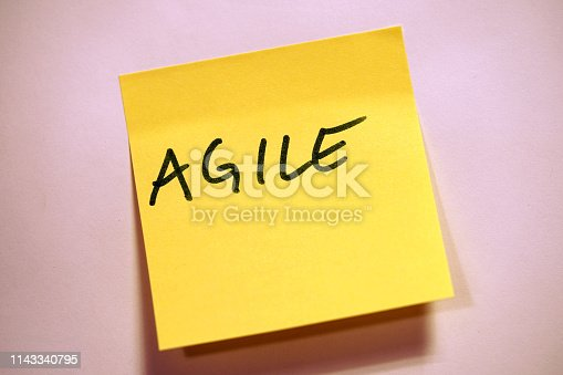 istock Yellow Sticky Note Scrum Agile 1143340795