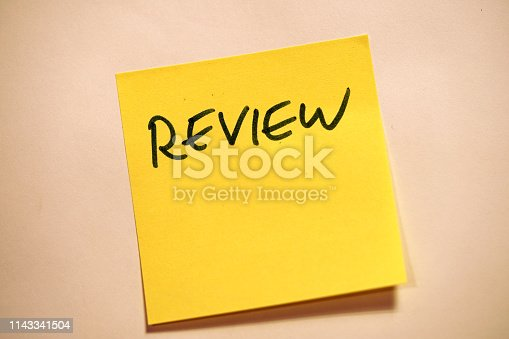istock Yellow Sticky Note Scrum Review 1143341504