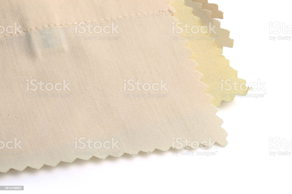 Yellow  Stitched Fabric Swatches royalty-free stock photo