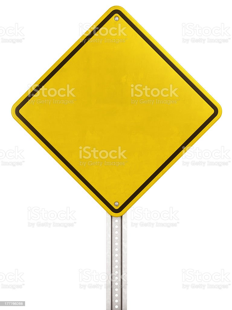 Yellow street sign stock photo