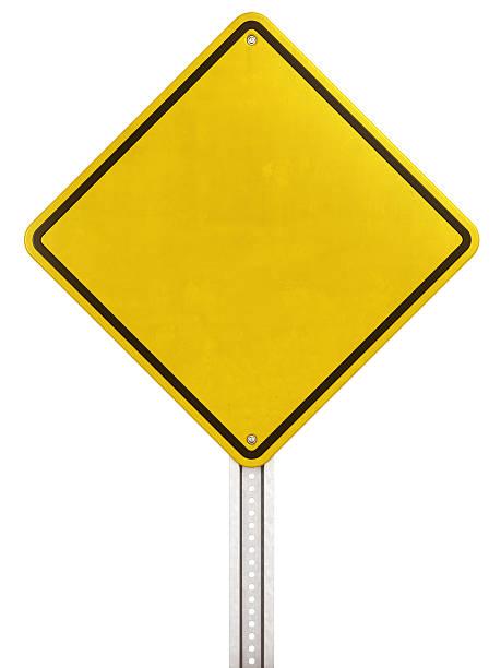 Gelbe Straße Zeichen – Foto