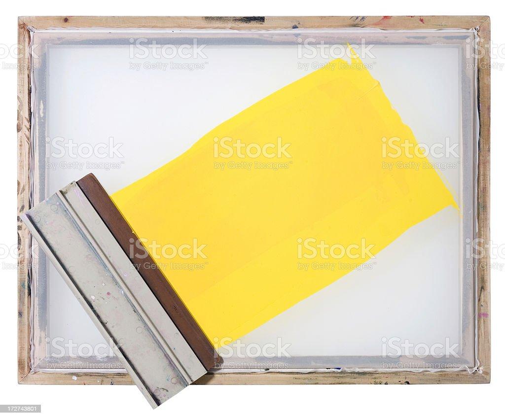 Yellow stripe stock photo