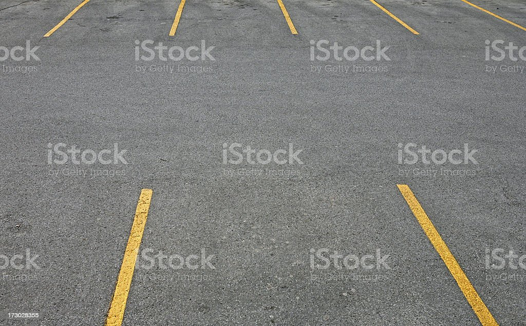 Yellow Striped Parking Area royalty-free stock photo