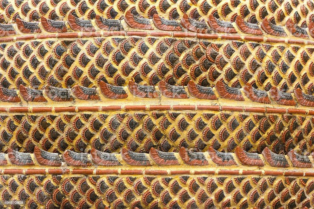 Yellow stripes, red flesh dragon stok fotoğrafı