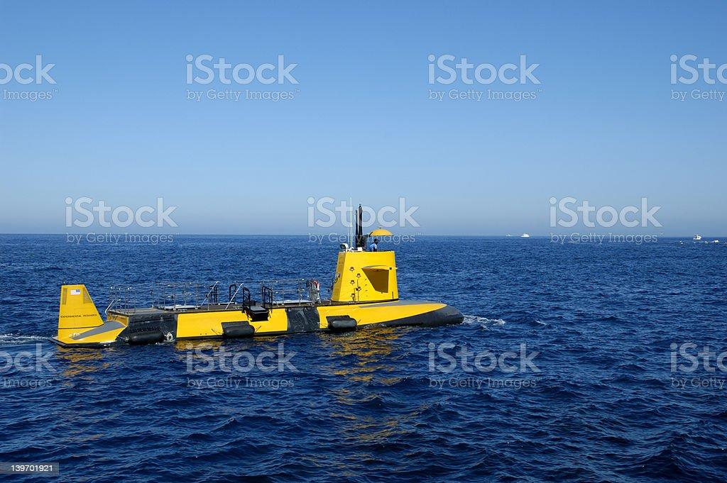 Yellow submarine stock photo