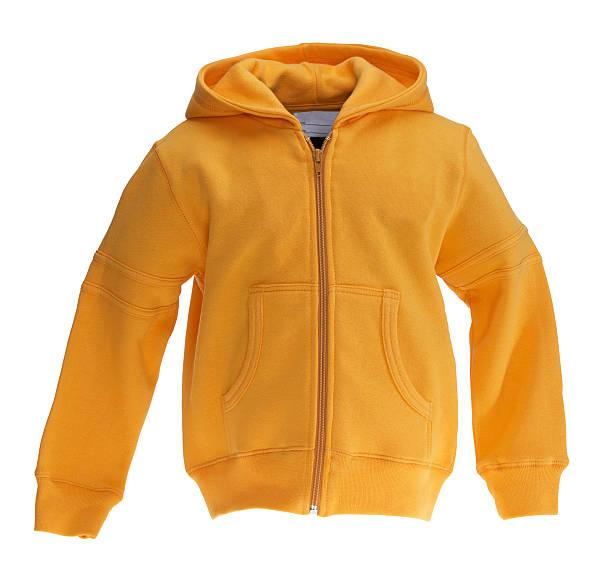 Yellow Sweat-shirt on white background stock photo