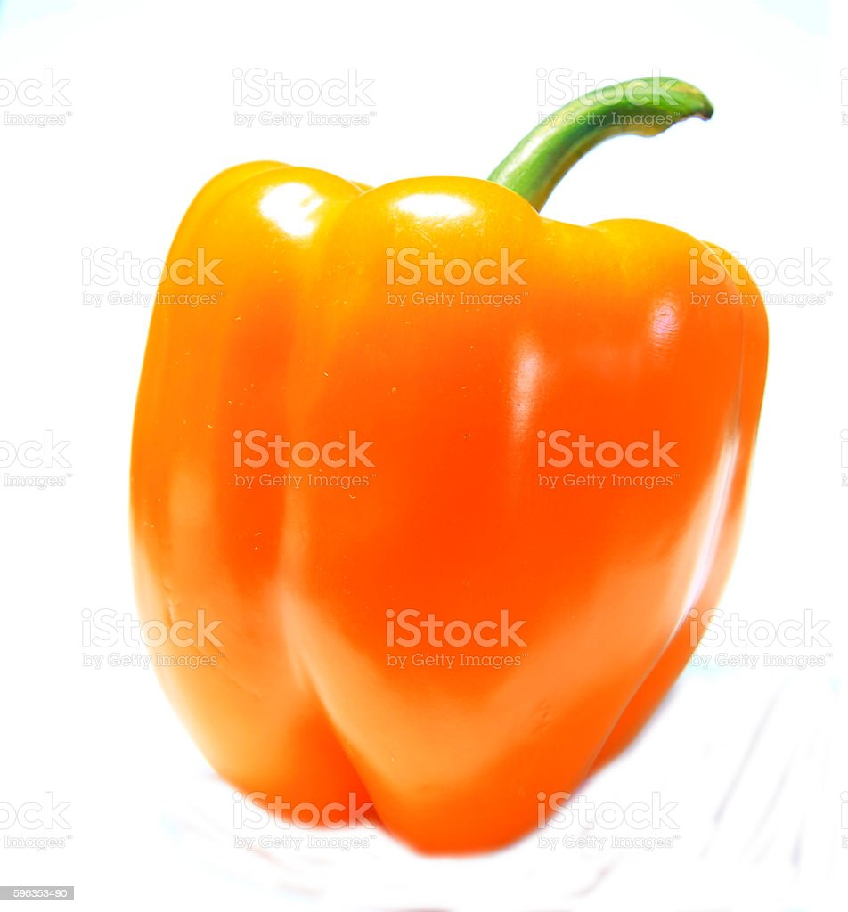 Yellow sweet pepper isolated on the white background royalty-free stock photo